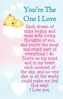 You're The One I Love Heartwarmers Keepsake Credit Card & Envelope Gift