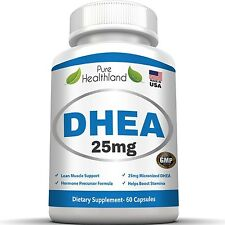 DHEA Supplement Capsules 25mg For Balance Hormone Anti Aging Life Extension