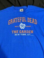 Vtg Grateful Dead 1991 New York MSG Madison Garden T Shirt XL Liquid Blue 2002
