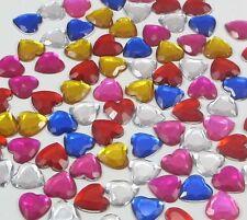 Parte posterior plana Forma de Corazón Corazón Cristal Estrás Craft Scrapbooking -50 PC 12mm