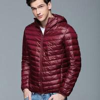 Men's Warm Down Jacket Hooded Overcoat Winter Puffer Coat Outerwear Tops Classic