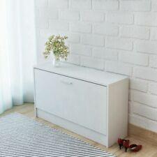 Shoe Cabinet Storage Organiser Rack Stand Entryway Hall 80x24x45 cm MDF White