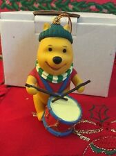 Winnie The Pooh With Drum Disney Grolier Christmas Magic Ornament In Box