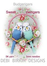 BUDGIE BUDGERIGAR  toy knitting pattern animal bird parrot