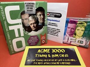 """Unstoppable UFO Series 3 RETAIL """"B"""" Silver Foil UNOPENED GREEN BOX 4x Hits + Set"""