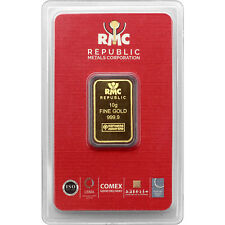 Republic Metals Corporation 10 Gram Gold Bar