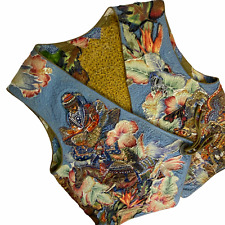 New listing Vintage Handmade Vest Large XL Quilted Dragons Fantasy Horse Equestrian