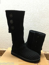 UGG CLASSIC CARDY TRIPLET KNIT BLACK BOOT sz  US 6 / EU 37 / UK 4.5 - NEW