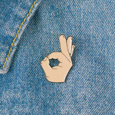 Ok ! Hand Finger Sign Brooch Pins Button Badge Jewelry Gift [70% Off!]