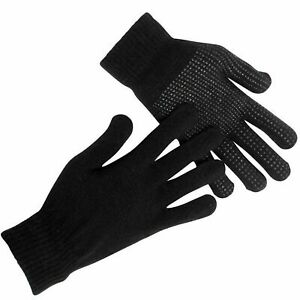 Mens Magic Gloves 3 Pairs With Grip Unisex Winter Warm Adult Gloves Thermal