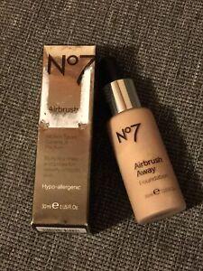 No7 Airbrush Away Foundation Wheat Full Size 1 fl oz NEW in Box