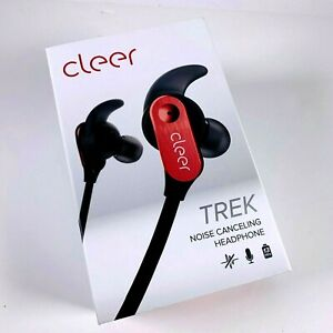 Cleer | Trek Active Noise Cancelling Headphones | Red | NIB
