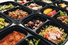 Réutilisable 2 Compartiment alimentaire conteneur 10pc Meal Prep Food Baignoires...