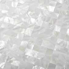 Mother of Pearl Tile White Pad Squared Mosaic Kitchen Bath Backsplash Wall Art