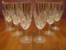 6 Gorgeous Marquis By Waterford Crystal Brookside Footed Ice Tea Goblets Glasses