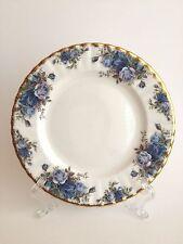 Royal Albert Bone China Moonlight Rose Blue Floral Salad Plate England