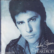 SHAKIN' STEVENS Teardrops / You Shake Me Up 45 P/S White Label - PROMO