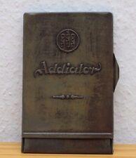 Vintage Alte Rechenmaschine Addiator Supra Rechenschieber Taschenrechner