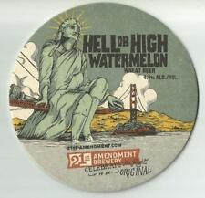 16 Hell Or High Watermelon Wheat Beer Coasters  21st Amendment Brewery