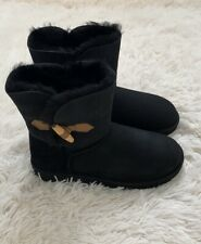 New UGG Keely Genuine Sheepskin Boots BLACK Size 9