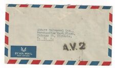 1953 Bangkok Thailand AV2 Onward Air Transmission Airmail to San Francisco CA