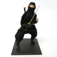 Japanese Doll SAMURAI Black Ninja With Box Kimono Sword Very Popular 25 cm