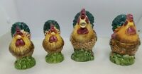 Chicken Salt and Pepper Shaker Set with, Sugar and Creamer set