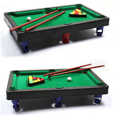 Mini Pool Table Flocking desktop Simulation Billiards Table Set Sport Balls FT