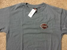 Harley Davidson embroidered bar and shield  gray Shirt Nwt Men's Medium