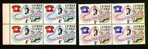 CAYMAN ISLANDS 1966 SG198-99 INTERNATIONAL TELEPHONE LINKS Blocks Of 4 -  MNH