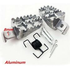 2x Silver Dirt Motorcycle Bike Footrest Peg Pedal For Offroad Honda Suzuki KTM
