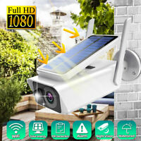 HD 1080P Security Smart WiFi Monitor Night Vision Mobile Wide Angle Solar Camera