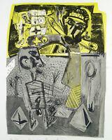 "DDR-Kunst ""Zwei Propheten"", 1987 Lithogr. Wolfgang HENNE (*1949 D), handsigniert"