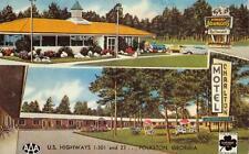 CHARLTON MOTEL Folkston, Georgia Roadside Howard Johnson's 1963 Vintage Postcard