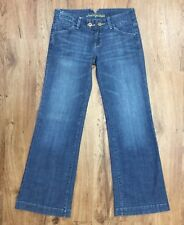 American Eagle Sz 6 Distressed Wide Leg Jeans Stretch Denim Womens Size 6 Reg