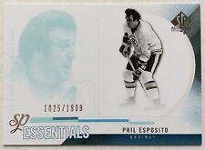 2010-11 PHIL ESPOSITO UD SP AUTHENTIC ESSENTIALS SP #162 BRUINS #1025/1999