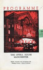 MANCHESTER OPERA HOUSE 1958 THE ROYAL BALLET 'GISELLE' MARGOT FONTEYN PROGRAMME.