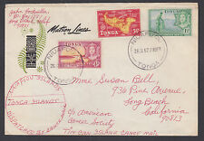 Tonga Sc 101, 104, 105 on 1967 Tin Can Mail Cover to California