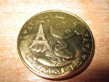 PIECE RARE MEDAILLE DISNEYLAND PARIS TOUR EIFFEL TOWER MICKEY 2014 NEUVE MINT