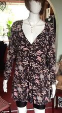 Multicoloured Floral Patterned Twist Front Dress From Fat Face Size 14.