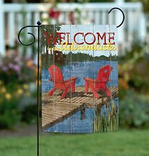 New Toland - Rustic Cabin Living Welcome to the Adirondacks - Summer Garden Flag