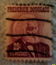 1967 Scott 1290 U. S. Frederick Douglass one used 25 cent stamp off paper