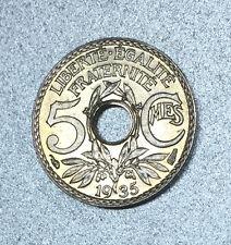 5 CENTIMES LINDAUER 1935 PETIT MODULE PARIS / FRANCE en NICKEL - SPLENDIDE 64 -