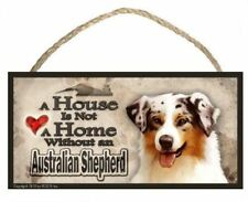 "Australian Shepherd ""A House is Not a Home"" Dog Sign / Plaque featuring the art"