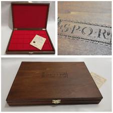 Cofanetto Astuccio per monete Medaglie Romane S.P.Q.R Wooden casket Roman Empire