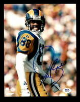 Issac Bruce PSA DNA Coa Hand Signed Rams 8x10 Autograph Photo