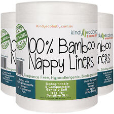 1540 X Bamboo Flushable Liners Nappy Cloth Disposable Natural Liner 7 Rolls