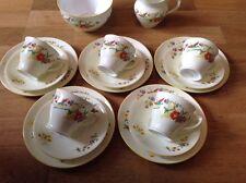 REDUCEDCollingwood China Handpainted 17 Piece Tea Set Floral Birds & Butterflies