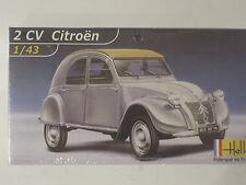 2 CV Citroen Ente Oldtimer Auto  1:43 *NEU*  Heller Plastikbausatz