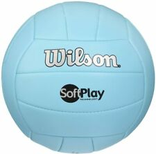 Wilson Soft and Super Soft Play Volleyball - Blue - Beach/Indoor Official Size